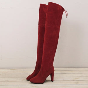 shoes Fashion Over The Knee Winter Boots - EK CHIC