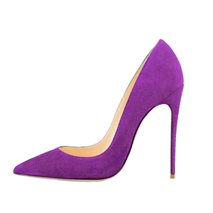 SHOES Purple Extreme High Heels Pointed Toe Shoes - EK CHIC