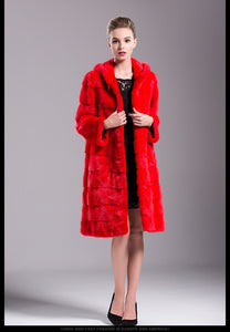 FUR COAT Luxury Natural Mink Fur Elegant Fur Coat - EK CHIC