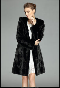 Luxury Natural Mink Fur Elegant Fur Coat - EK CHIC
