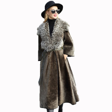 Natural Pure Real Fur Coat Vintage - EK CHIC