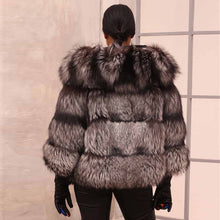Load image into Gallery viewer, Sliver Fox Fur Coat - EK CHIC
