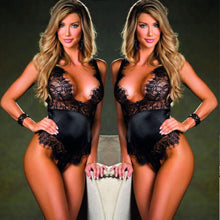 Load image into Gallery viewer, LINGERIE Women Sexy Lace Mesh Teddy Bodysuit - EK CHIC
