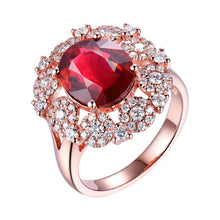 Load image into Gallery viewer, Natural Tourmaline Diamonds 18K Rose Gold Engagement  Ring - EK CHIC