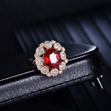 Load image into Gallery viewer, JEWELRY Natural Tourmaline Diamonds 18K Rose Gold Engagement Ring - EK CHIC