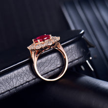 Load image into Gallery viewer, JEWELRY Fantastic Natural Tourmaline Diamonds 18K Rose Gold Engagement Party - EK CHIC