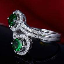 Load image into Gallery viewer, JEWELRY Round 5.5mm Solid 14kt White Gold Natural Tsavorite Ring - EK CHIC