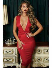 Load image into Gallery viewer, DRESS Women's Elegant Slim Sheath Dress - Solid Colored Sexy Fashion - EK CHIC