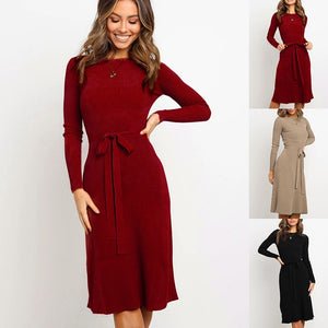 DRESS Women's Bodycon Sweater Dress - EK CHIC