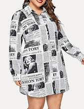 Load image into Gallery viewer, DRESS Women's Plus Size Street CHIC Shirt Dress - EK CHIC
