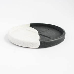 Small Round Tray in Monochrome