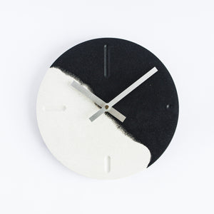 Wall Clock in Monochrome