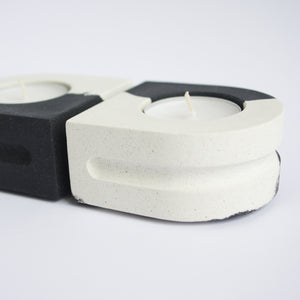 Set of Tealight Holders in Monochrome