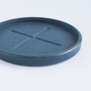 Small Round Tray in Deep Blue