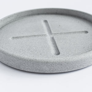 Small Round Tray in Cool Grey