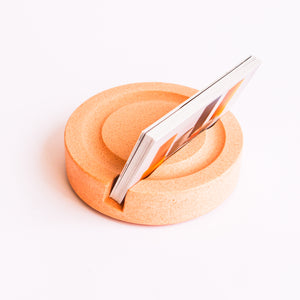 Business Card Holder in Peachy Pink