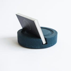 Business Card Holder in Deep Blue
