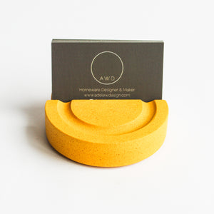 Business Card Holder in Mustard Yellow