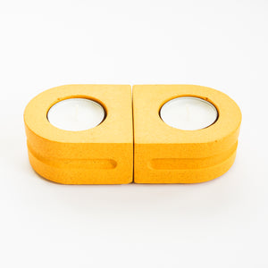 Set of Tealight Holders in Mustard Yellow