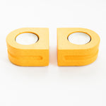 Load image into Gallery viewer, Set of Tealight Holders in Mustard Yellow