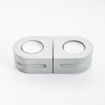 Load image into Gallery viewer, Set of Tealight Holders in Cool Grey