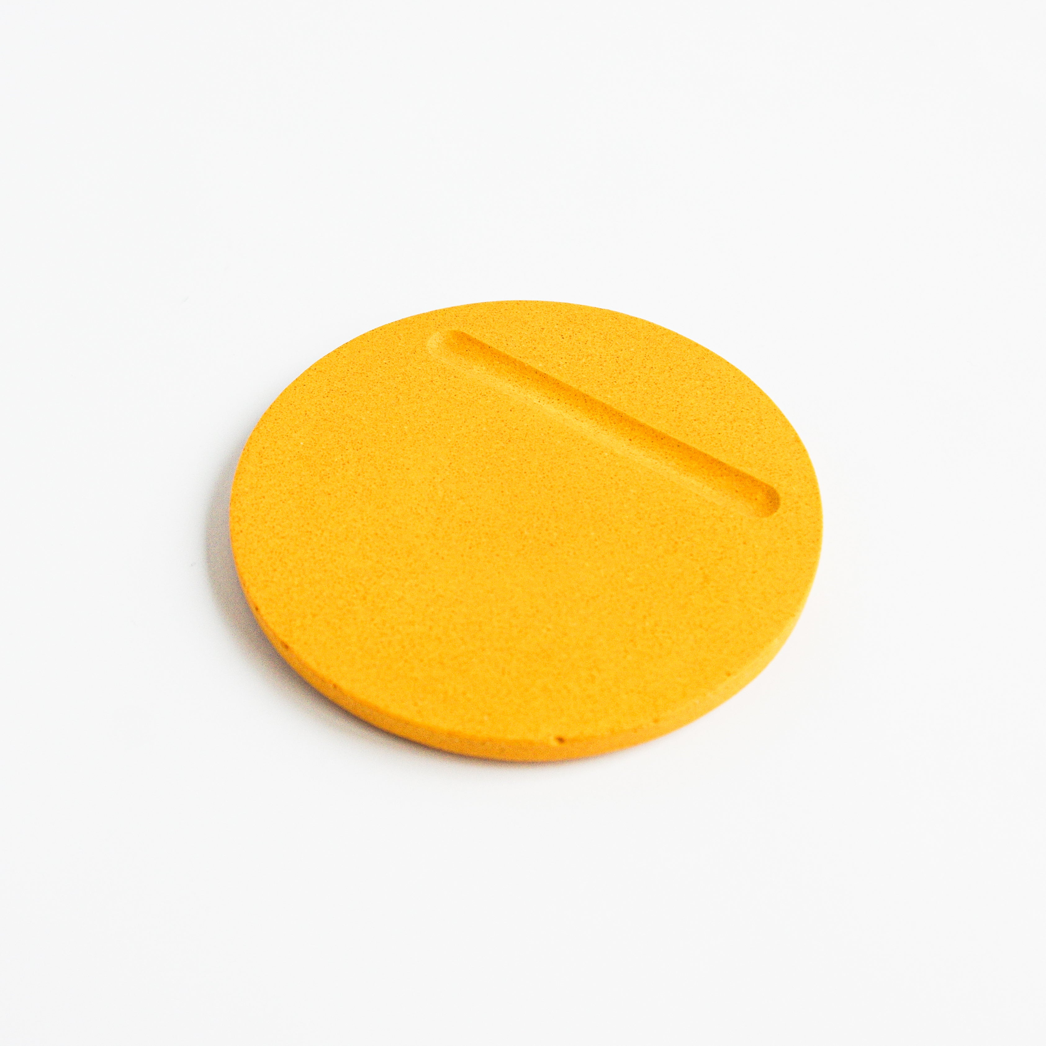 Round Coasters in Mustard Yellow