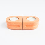 Load image into Gallery viewer, Set of Tealight Holders in Peachy Pink