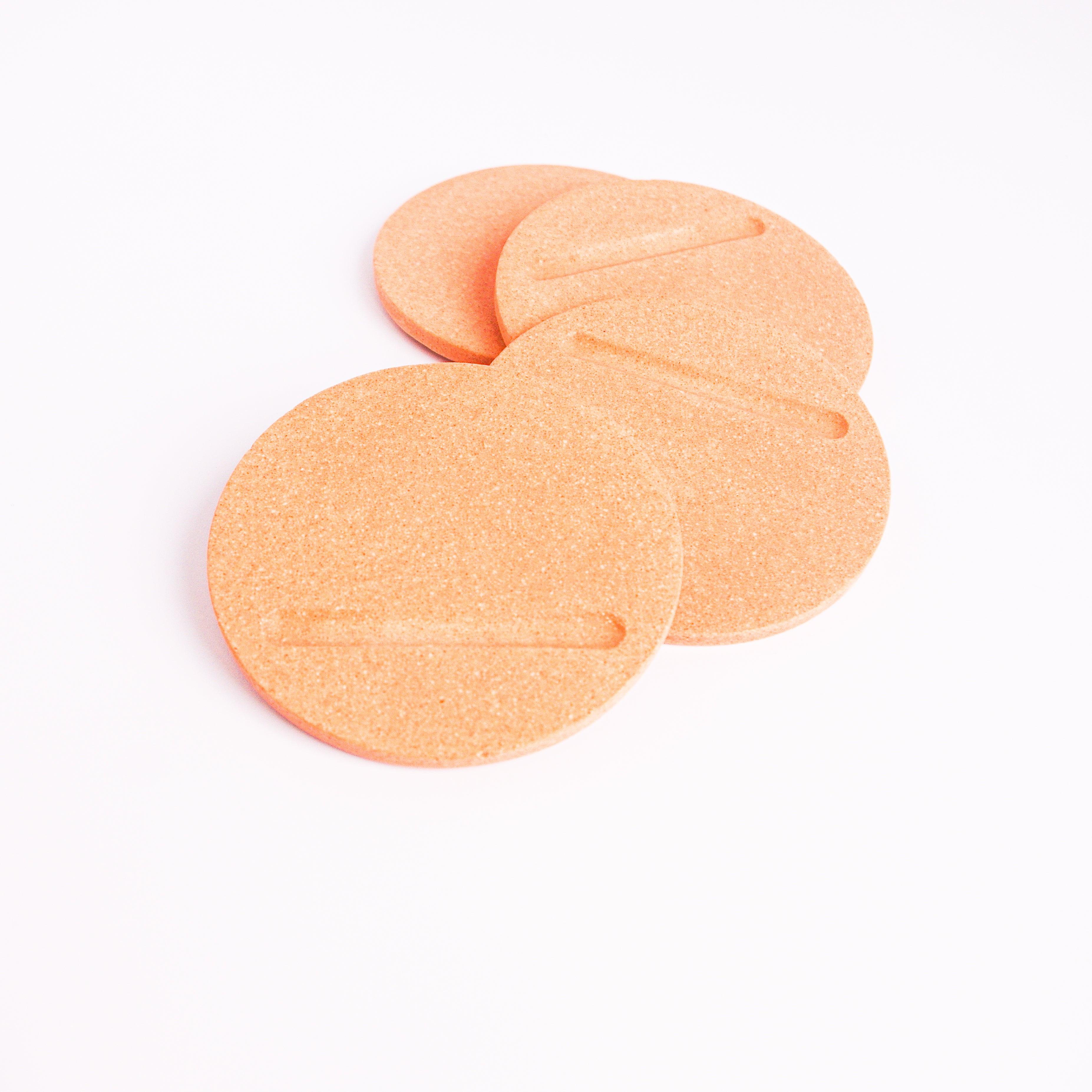 Round Coasters in Peachy Pink