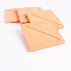 Square Coasters in Peachy Pink