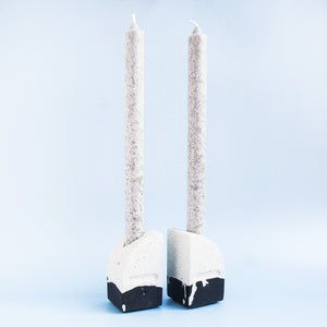 Taper Candle Holders in Monochrome