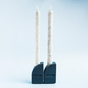 Taper Candle Holders in Deep Blue