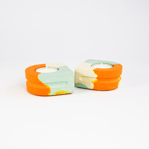 SPLODGE Tangerine Tealight Holders