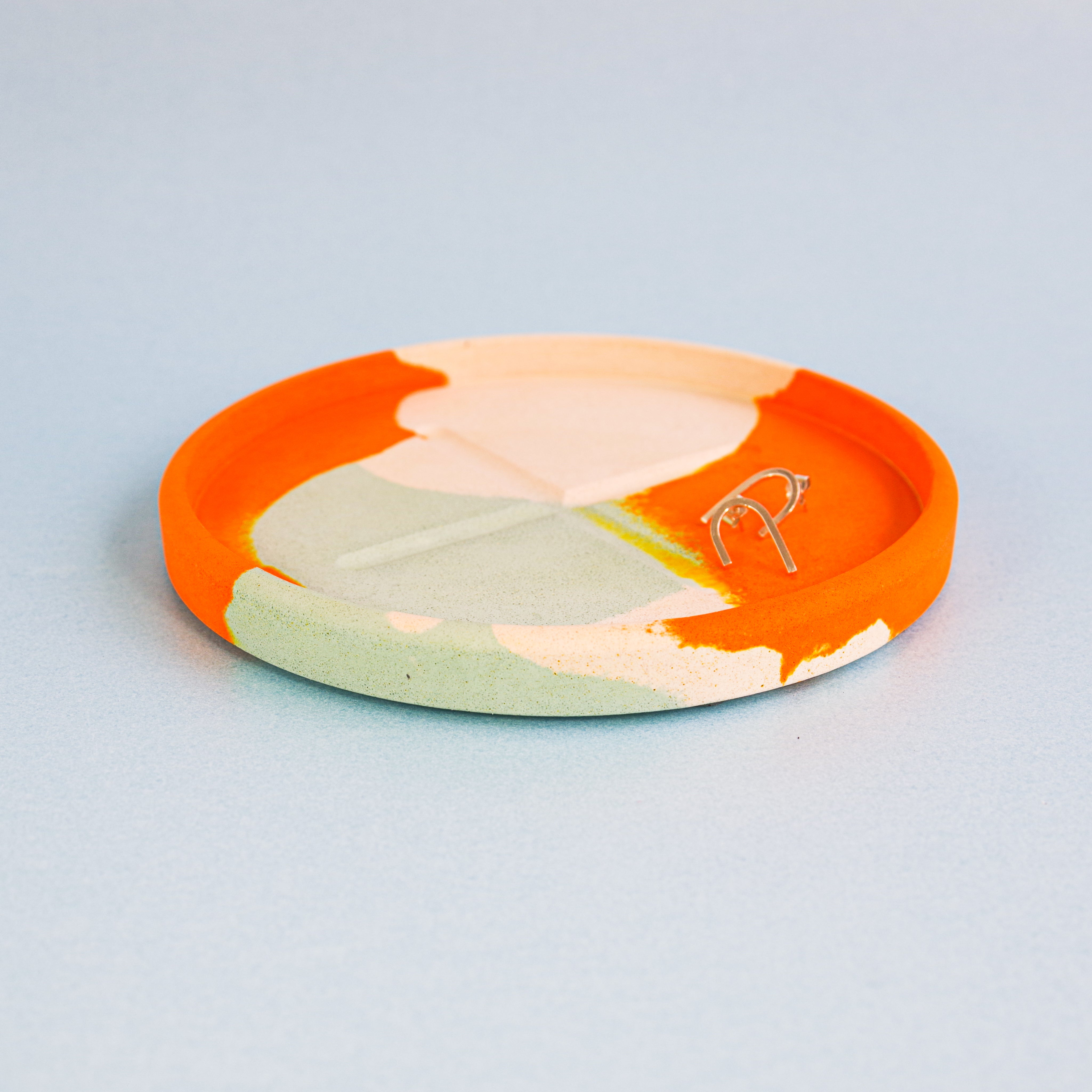 SPLODGE Tangerine Small Round Tray
