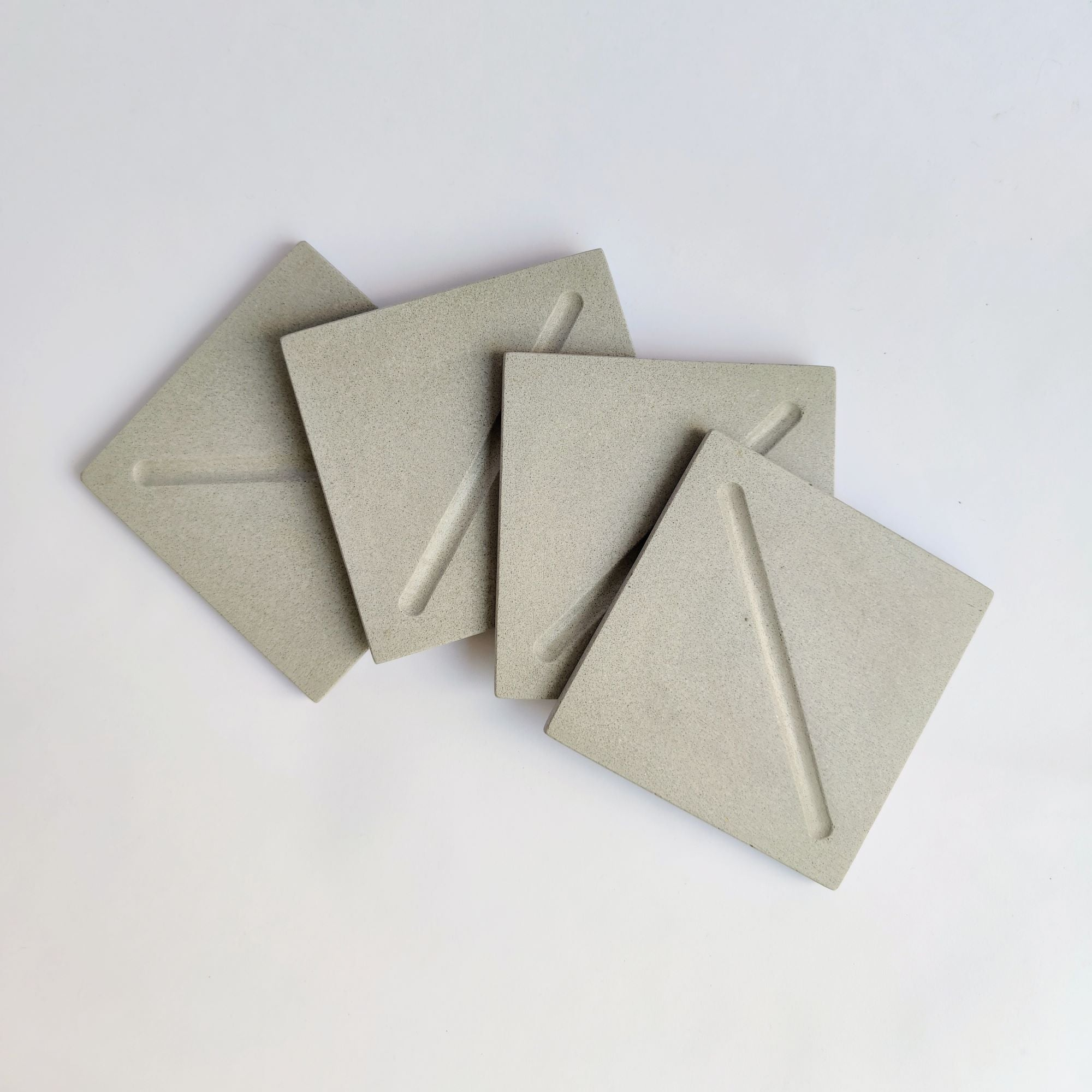 Square Coasters in Cool Grey