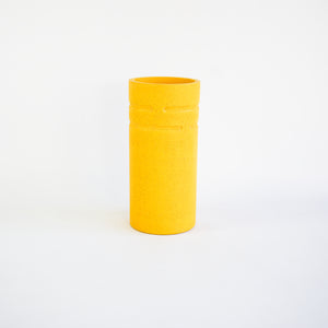 Tall Vase in Mustard Yellow