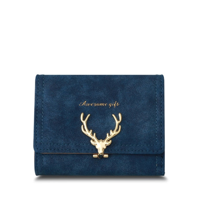 Latest Christmas Deer Women Leather Wallet, Small Multicolor Clutch - Deals You May Like