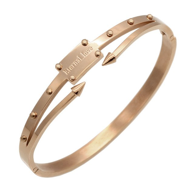 Stainless Steel Bracelet & Bangle With Gold Color Jewelry - Deals You May Like