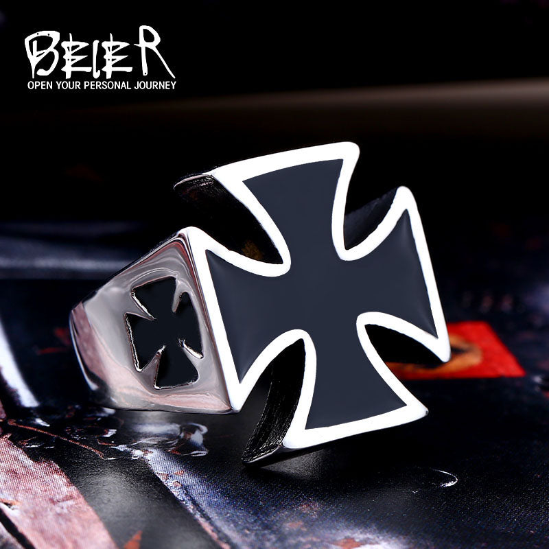 Iron Cross Men's Stainless Steel Fashion Ring | German rings - Deals You May Like