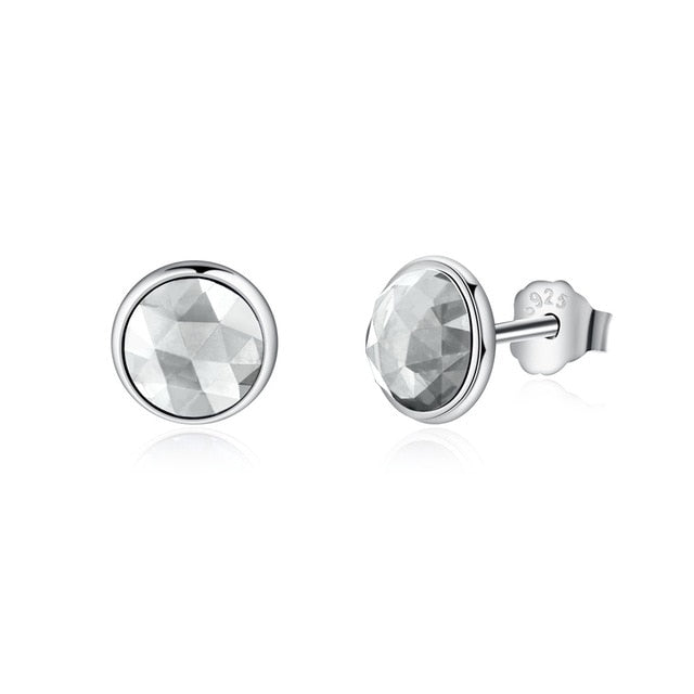 Sterling Silver Birthstone Droplets & Women Rock Crystal Stud Earrings - Deals You May Like