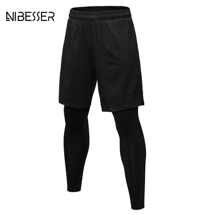 NIBESSER Fashion Men Fitness Pants Black - Deals You May Like