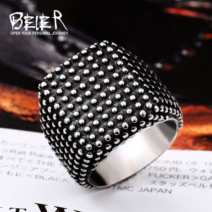 Europe & America Rock Gypsophila Ring | Gothic style Male jewelry - Deals You May Like