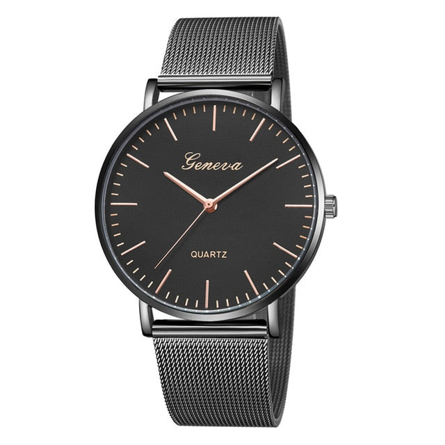High Quality Casual Black Quartz Watch For women - Deals You May Like