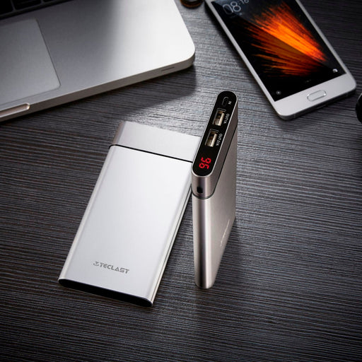 Teclast Ultra thin 10000mAh Power Bank USB Dual-for Iphone 8 - Deals You May Like