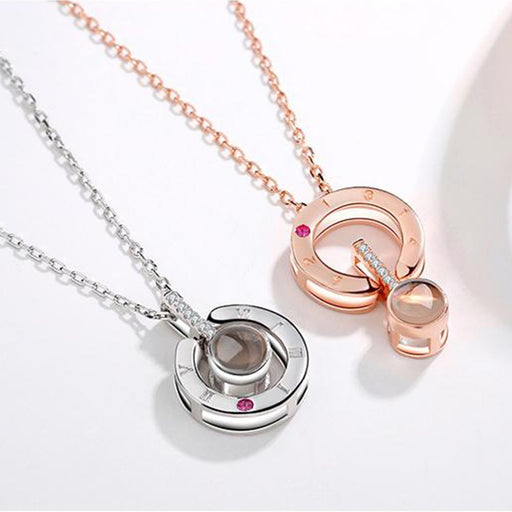New Rose Gold Silver Pendant Necklace - Deals You May Like
