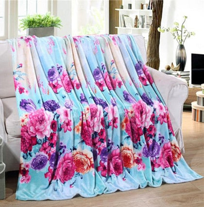 Multicolor Flannel Blanket, Top Sheet Bed Cover - Deals You May Like