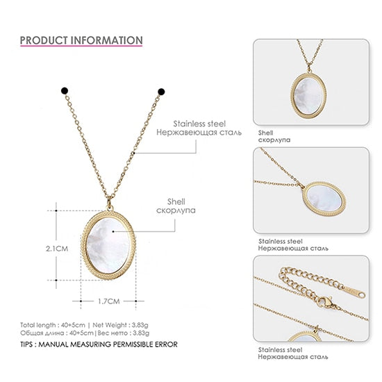 Stainless Steel Pendant Necklace, Women Round Circle Necklace - Deals You May Like