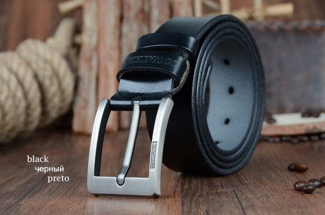 Genuine leather vintage New designer pin buckle mens belts - Deals You May Like