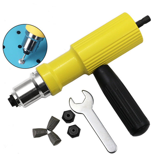 Electric Rivet Nut Gun Riveting Tool, Cordless Riveting Drill Adaptor - Deals You May Like