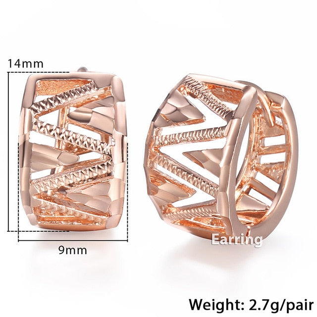 New Rose Gold Earrings Woman Jewelry For Women - Deals You May Like