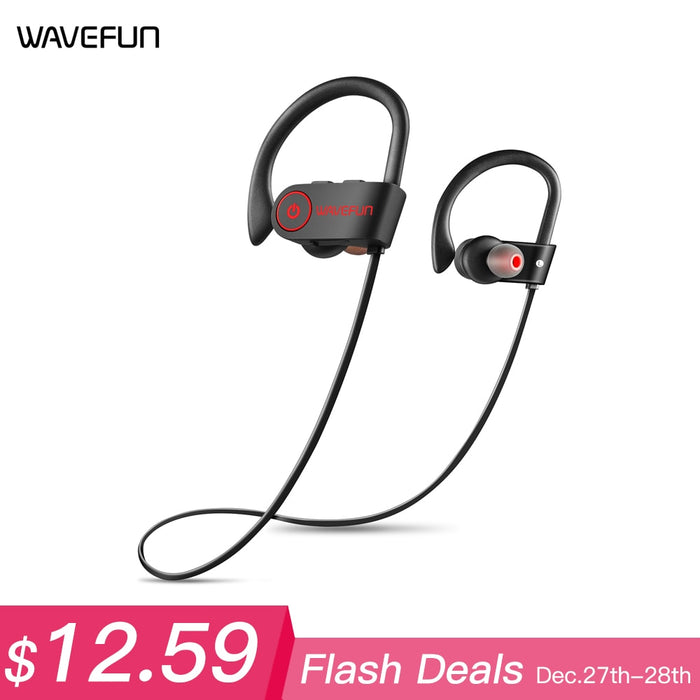 Wave fun Bluetooth Headphones,Waterproof Headphone With Mic For Phone - Deals You May Like